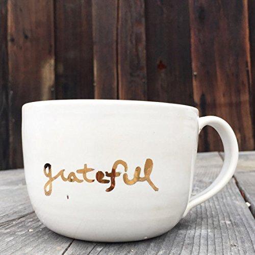 Grateful over-sized mug with 22K Gold Inspiration ()