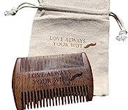 Custom Beard Comb - Engraved Sandalwood Beard Comb - Personalized Beard Comb - Beard Comb Gift Set