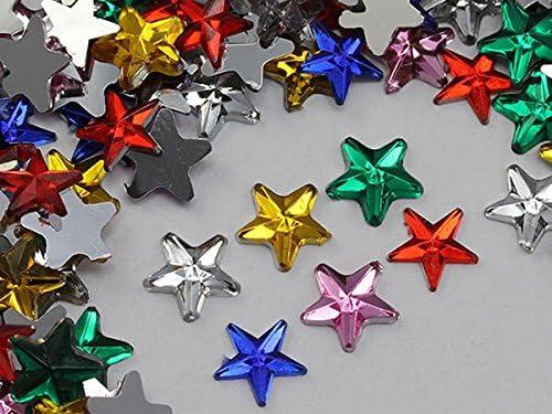 50 x 8mm flat back rhinestone star gems//cardmaking//scrapbooking