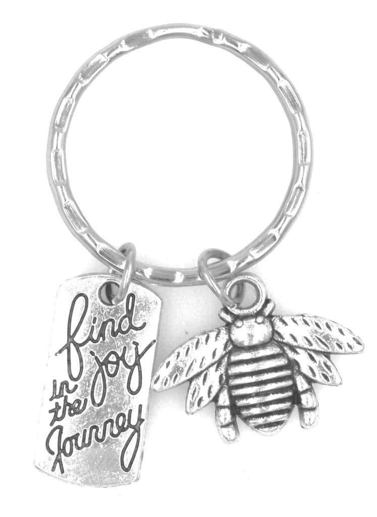 Find Joy in the Journey Bee Keychain 105N