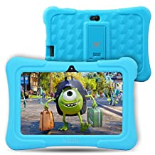 Dragon Touch Kids Tablet 7 inch Kidoz Pre installed with Bonus Disney Games App and Audio Book -- GMS Certified-Blue