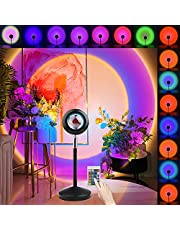Sunset lamp, Sunset Projection lamp, Masper Multicolored 180° Flip 360°Rotation USB Powered with Remote Control LED Night Light Sunset Projector Light Floor Lamp