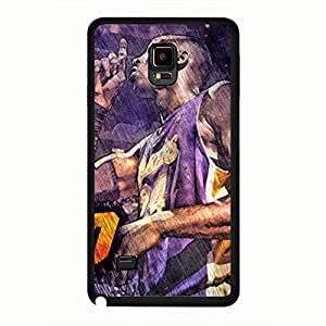 Classical Design Samsung Galaxy Note 4 Basketball Club Player Kobe Bryant Pattern Design Case Black For Samsung Galaxy Note 4 Case