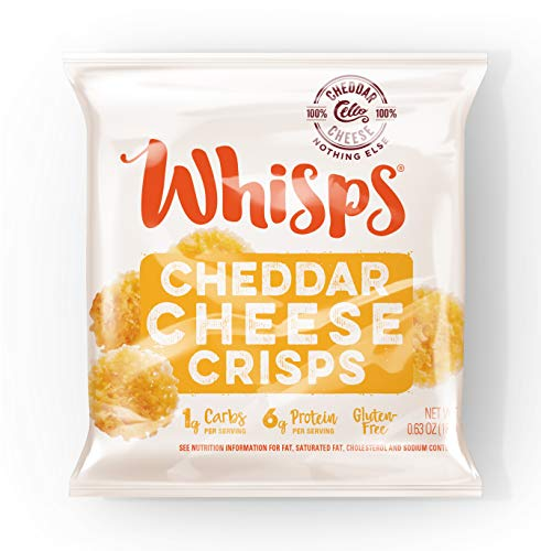 Whisps Cheese Crisps Single Serve 12 ct Variety Pack |Back to School Snack, Keto Snack, No Gluten, No Sugar, Low Carb, High Protein| Parmesan and Cheddar (12 x 0.63oz)