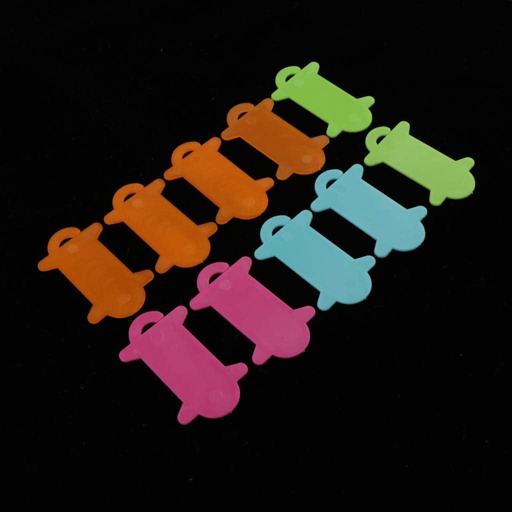 DIY N/ähen Lagerung Hellery 10pcs Garnwickelkarten Garnkarten Wickelplatte Wickelkarten Mehrfarbig Bobbins aus Kunststoff
