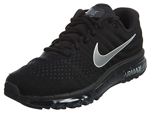 Nike Mens Air Max 2017 Running Shoes Black/White/Anthracite 849559-001 Size 11 (Nike Neon Black Sneakers)
