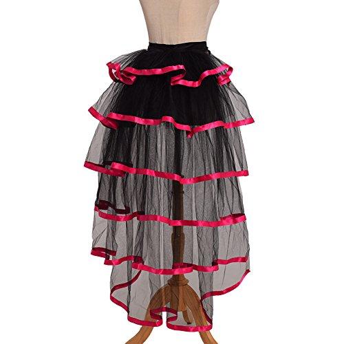GRACEART Noir Dentelle Ourlet Ceinture jupe Tutu Bustle Victorian Sous Rose Steampunk 4qU4A7Zp