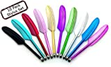 10 Pack Feather Stylus for All Touchscreen Devices for iPad,iPhone,Google Tablets and More!!