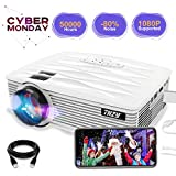 Office Products : THZY Mini Projector 2200 Lumens Portable Video Projector,50000 Hours Multimedia Home Theater Movie Projector 1080P Support,Compatible with Amazon Fire TV Stick HDMI,VGA,USB,AV,Laptop,Smartphone