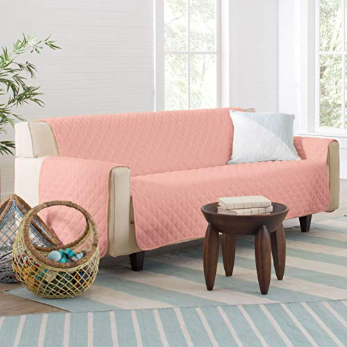 BrylaneHome Bh Studio Water-Repellent Microfiber Sofa Protector - Blush
