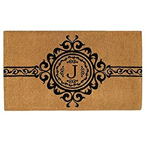 Home & More 180072436J Garbo 2' X 3' Extra-thick Monogrammed Doormat (Letter J)