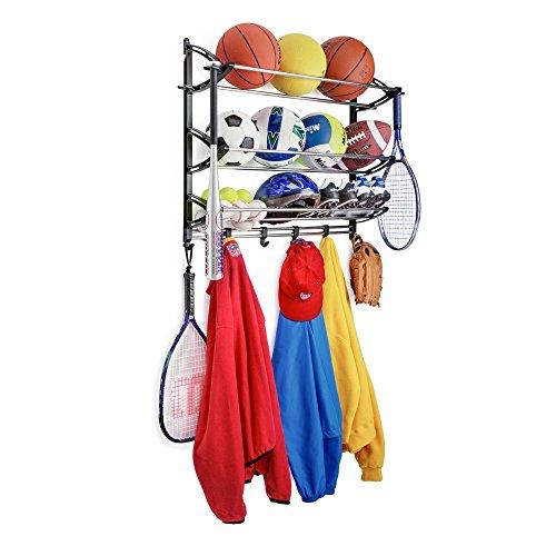 Lynk Sports Gear Storage Rack with Adjustable Hooks