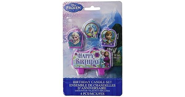 Amazon.com: Frozen Conjunto de vela pequeños 4piece: Kitchen ...