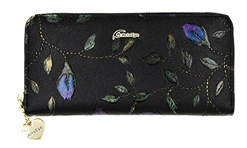 Flower Hand Painted Leather Wallet - 7