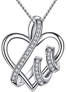 Necklace Love Heart Pendant S925 Sterling Silver perfect Gift for women
