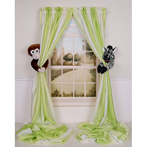 Baby Nursery Jungle Safari Monkey and Zebra Curtain Tieback Collector Set from Curtain Critters