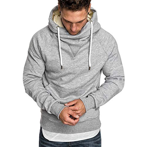 Fashion Men's Hoodie Gym Fitness Workout Loose Long Sleeve, MmNote Slimming Polyester Technology Lightweight Muscle T-Shirt ...