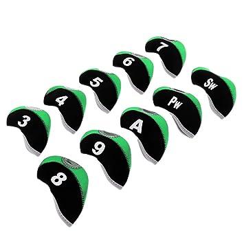 IPOTCH 10 Pedazos de Fundas de Protección de Cabeza de Golf Club, Bolsa de Mantenimiento de Palos
