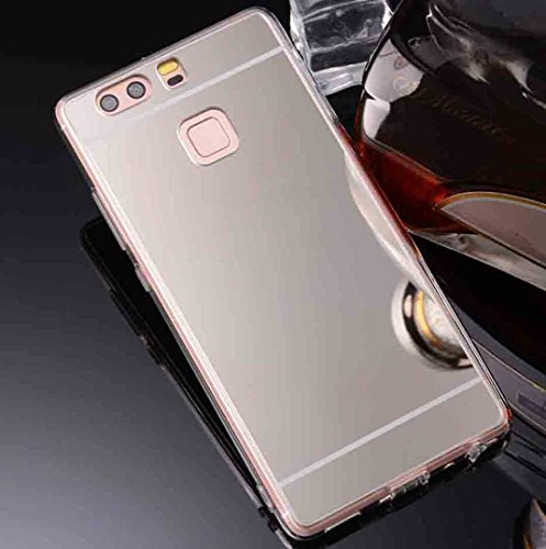 Huawei Honor 9Lite Mirror Summer Case, Soft Shiny Plated Reflect Make-Up  Mirror Back Slim Cover, TAITOU Fashion Ultralight Thin TPU Phone Case For