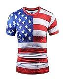 Wehug-Mens-American-Flag-Tshirt-3d-Pattern-Printed-Short-Sleeve-T-Shirts-Top-Tees