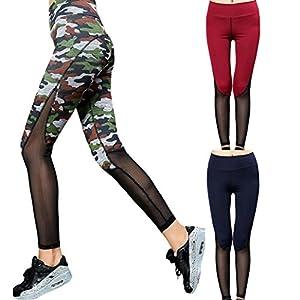 Gillberry Women High Waist Sport Gym Yoga Running Fitness Leggings Pants Trouser