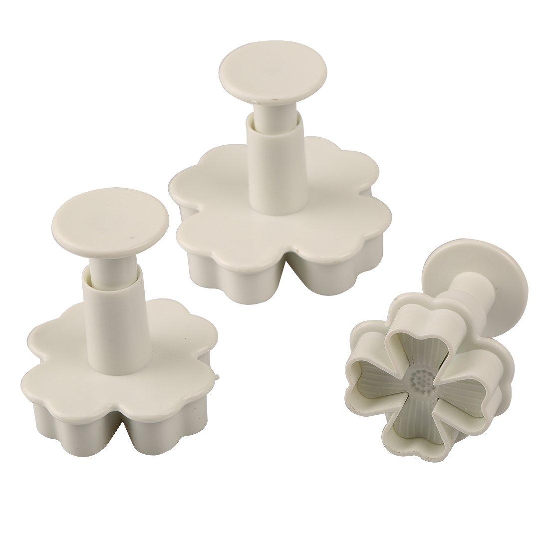New 3pcs/set Flower Shape Cake Sugarcraft Plunger Decoration Diy Tool Mold Kitchen Accessories by Joylive (Image #1)