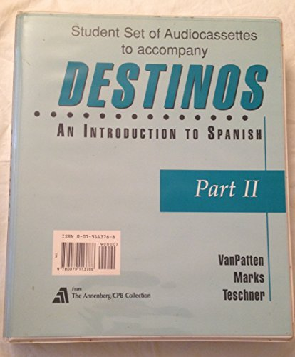 Student Audio Cassette Program (Part II) to accompany Destinos:  An Introduction to Spanish by McGraw-Hill Humanities/Social Sciences/Languages