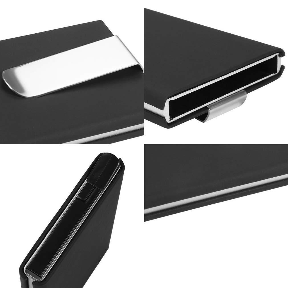 RFID Blocking Credit Card Holder, XSLEGO Business Card Holder Protector Magic Pop Up Aluminum Wallet Money Clip (Blue) by XSLEGO (Image #6)