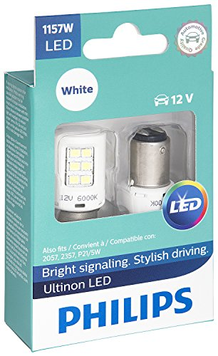 - Philips 1157 Ultinon LED Bulb (White), 2 Pack