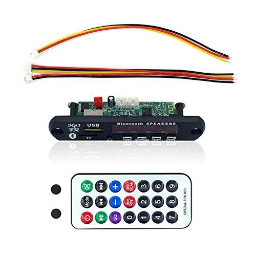 Fiekcor-car Bluetooth MP3WMA décodeur Board 12V Wireless module audio USB TF radio