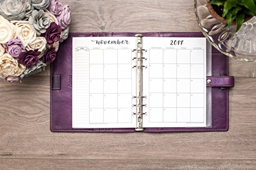 2017-2018-calendar-for-a5-planners-filofax-kikki-k-carpe-diem-planners-monday-start-week-on-two-page