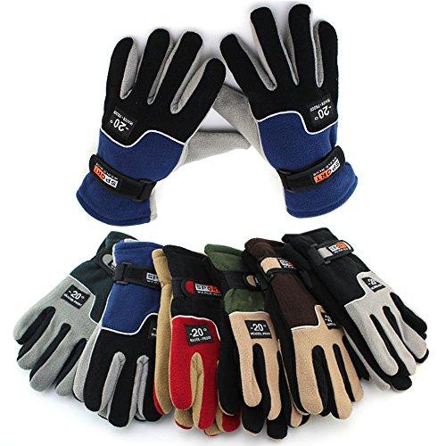 Meanhoo (1Pair) Winter Gloves Non-Slip Gel Pad Gloves Men's Women's Sportswear Bicycle Riding Short Gloves for Skiing Full Finger Gloves - Color is random