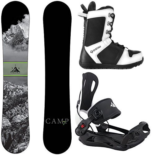 001de85a0c3 Camp Seven Package Valdez Snowboard 156 cm-System MTN Binding XL-System APX  Snowboard Boots 13