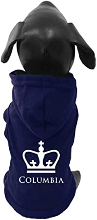 All Star Dogs NCAA Columbia Lions University Cotton Lycra Hooded Dog Shirt