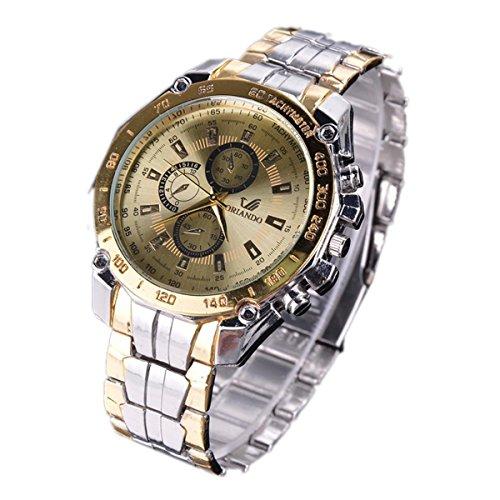 Xixou Mens Watches Chronograph Analog Quartz Clock Stainless Steel Mesh Band Simple Waterproof Thin Dial Calendar Skone Watch