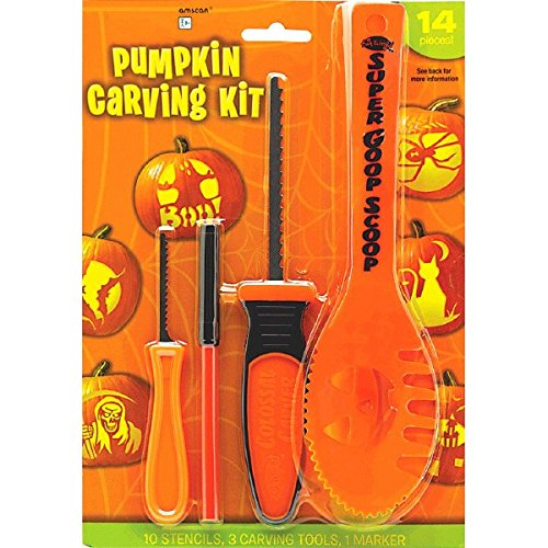 Basic Pumpkin Carving Kit w/Stencils -