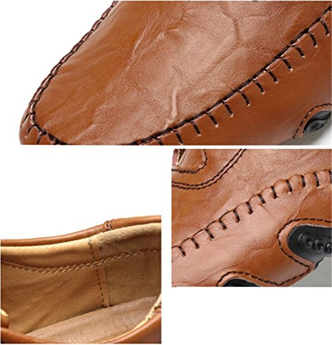 Bininbox Mens Instappers Loafers Casual Bootschoenen Mode Rijden Sneaker Board Sport Moderne Atletiek Hardlopen Zacht Bruin