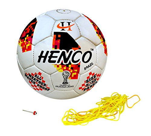 Henco PU Football, Size 5  White  Brazil