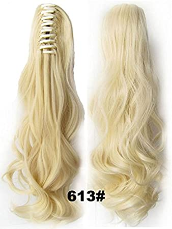Amazon ah easy hair diy design ponytail claw clip hair ah easy hair diy design ponytail claw clip hair extension bleach blonde 613 hairpiece 22quot pmusecretfo Image collections