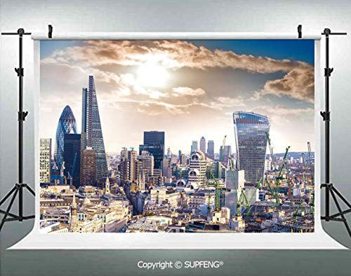Photography Background Modern District London Aerial Image Famous