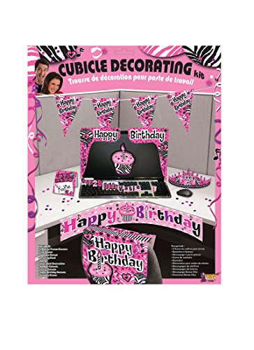 F72498 (Pink) Cubicle Birthday Decorating Kit (Cubicle Birthday Decorations)