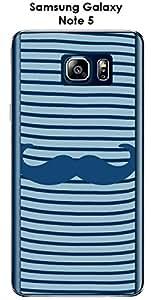Carcasa Samsung Galaxy Note 5diseño marinero bigote-1Classic Blue