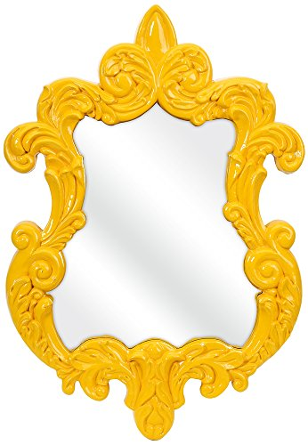 47381 Finely Baroque Mirror Yellow
