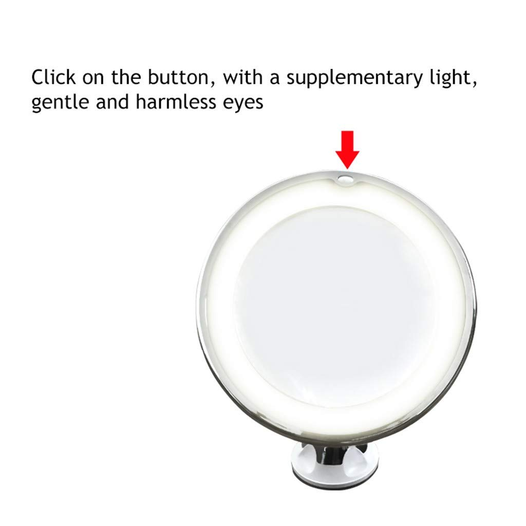 ℬeauty Eve Flexible Mirror Lighted 10X Magnifying Makeup Mirror Power Locking Suction Cup by ℬeauty Eve (Image #4)