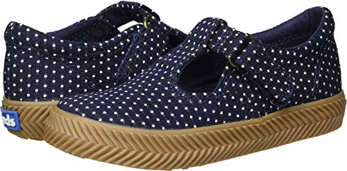 Keds Girls' Daphne Herring ND Sneaker, Navy dot, 6.5 Medium US Toddler