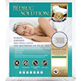 The Allergy Store Bed Bug Solution Hybrid Stretch Zippered Waterproof Mattress Cover, 15'' Deep, Twin, White