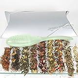 Aromamore Tea Sampler Gift Set with Loose Leaf Tea - Black Tea, White Tea, Green Tea, and Others