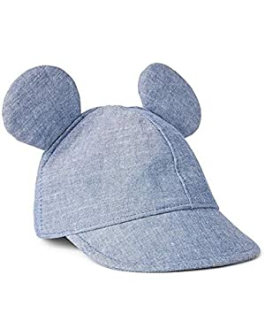 Baby Gap Disney Mickey Mouse Blue Chambray Denim Baseball Cap 18-24 Months