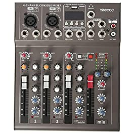 4 Channel Live Studio Stereo Audio bluetooth Mixer Sound Mixing DJ USB Console