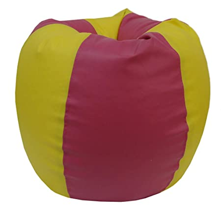 ORKA Classic XL Bean Bag Cover Without Beans  Yellow, Pink Bean Bag Covers